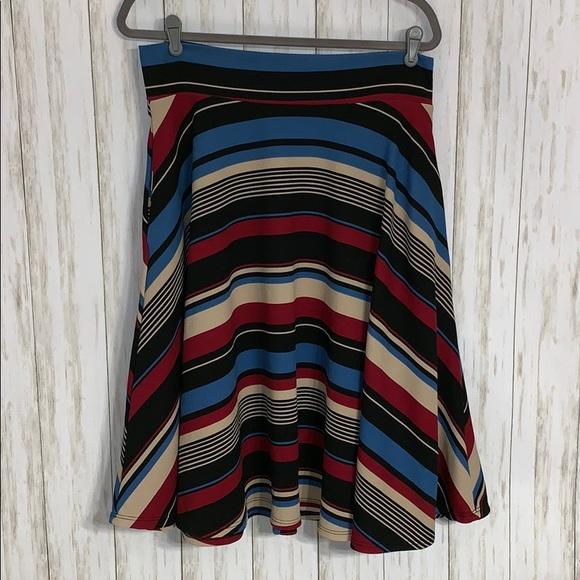 Agnes & Dora Dresses & Skirts - Size XL Agnes & Dora Striped A-Line  Skirt